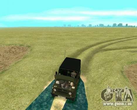 UAZ 31512 pour GTA San Andreas vue intérieure