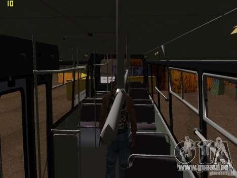 Trolleybus LAZ-52522 pour GTA San Andreas vue de dessus