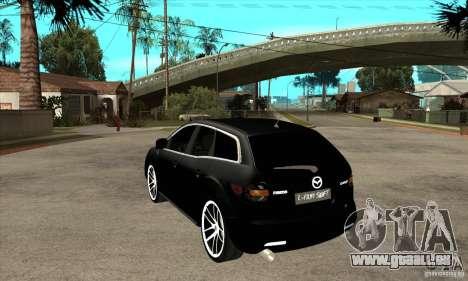 Mazda CX-7 pour GTA San Andreas sur la vue arrière gauche