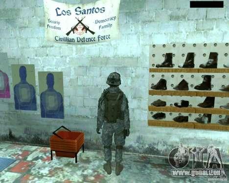 Haut Infanterist CoD MW 2 für GTA San Andreas fünften Screenshot