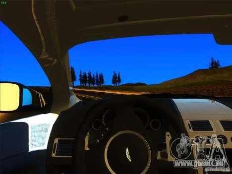 Aston Martin Virage 2011 Final für GTA San Andreas zurück linke Ansicht
