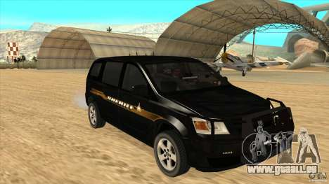 Dodge Caravan Sheriff 2008 pour GTA San Andreas vue arrière