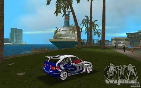 Ford Escort Cosworth RS pour une vue GTA Vice City de la droite