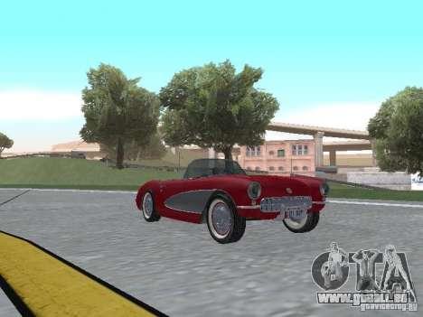 Chevrolet Corvette C1 pour GTA San Andreas laissé vue
