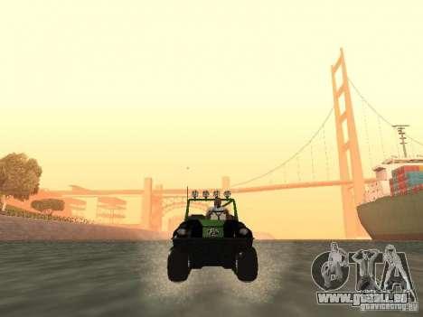 Véhicule tout-terrain Argo Avenger pour GTA San Andreas vue arrière