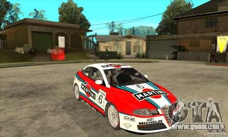Alfa Romeo GT pour GTA San Andreas vue arrière