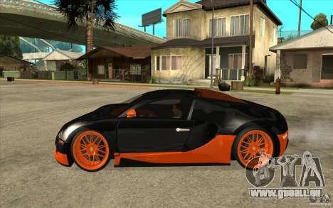 Bugatti Veyron Super Sport 2011 für GTA San Andreas zurück linke Ansicht