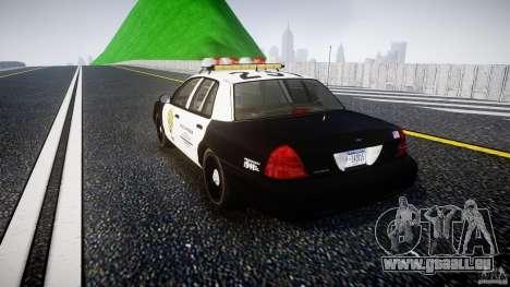 Ford Crown Victoria Raccoon City Police Car pour GTA 4 Vue arrière de la gauche
