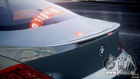 BMW M6 G-Power Hurricane pour GTA 4 Salon