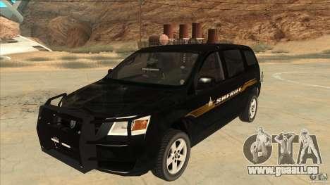 Dodge Caravan Sheriff 2008 pour GTA San Andreas