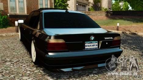 BMW 750iL E38 Light Tuning pour GTA 4 Vue arrière de la gauche