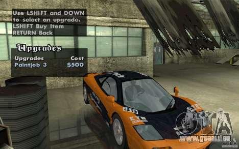 Mclaren F1 road version 1997 (v1.0.0) pour GTA San Andreas vue de côté