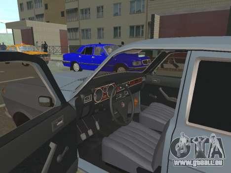 Volga GAZ 24-10 pour GTA San Andreas vue arrière