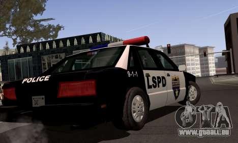 New Police LS für GTA San Andreas Rückansicht