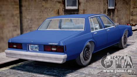 Chevrolet Impala 1983 [Final] pour GTA 4 est une vue de dessous