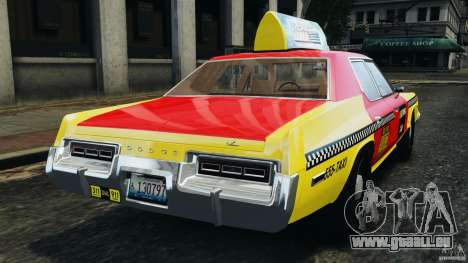 Dodge Monaco 1974 Taxi v1.0 pour GTA 4 Vue arrière de la gauche