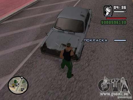 Repeindre de l'actionneur pour GTA San Andreas troisième écran