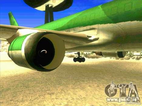 Boeing E-767 pour GTA San Andreas vue arrière