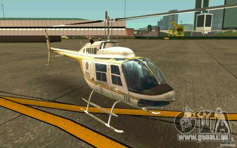 Bell 206 B Police texture4 pour GTA San Andreas laissé vue