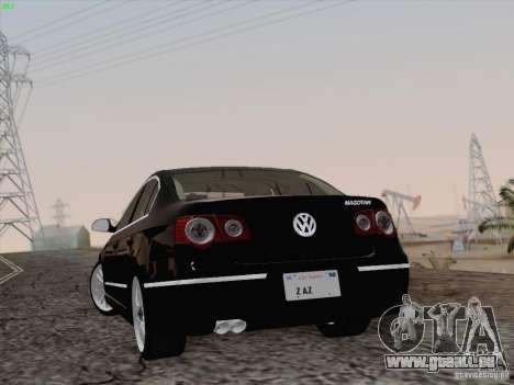 Volkswagen Magotan 2011 pour GTA San Andreas vue intérieure