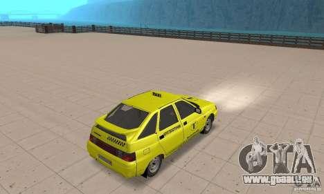 VAZ 21124 TAXI pour GTA San Andreas laissé vue