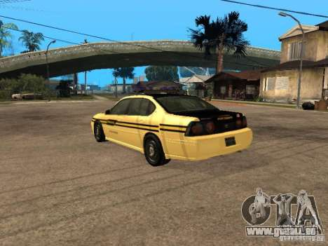 Chevrolet Impala Police 2003 für GTA San Andreas linke Ansicht