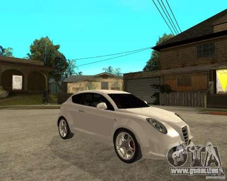 Alfa Romeo Mito pour GTA San Andreas vue de droite