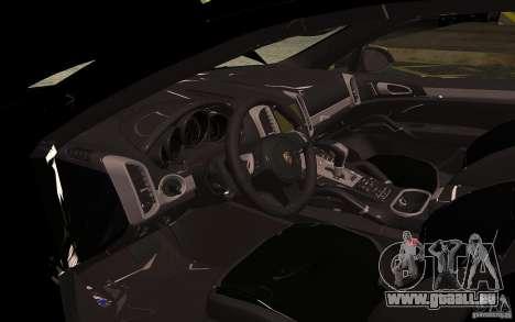 Porsche Cayenne Turbo 958 Seacrest Police pour GTA San Andreas vue intérieure