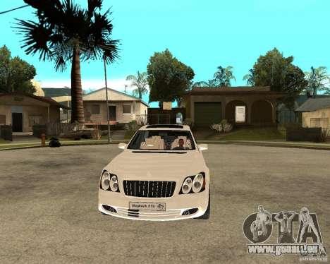 Maybach 57 S für GTA San Andreas Rückansicht