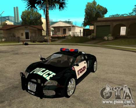 Bugatti Veyron Polizei San Fiero für GTA San Andreas