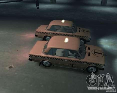 VAZ 2106 Taxi pour GTA 4 est une vue de l'intérieur