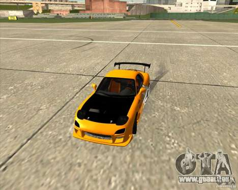Mazda RX-7 sumopoDRIFT pour GTA San Andreas vue intérieure
