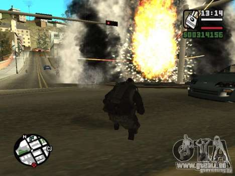 Les explosifs de cod mw2 pour GTA San Andreas troisième écran