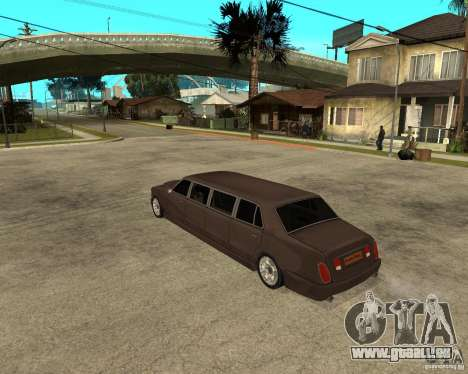 Rolls Royce Silver Seraph pour GTA San Andreas laissé vue