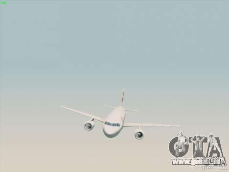 Airbus A319-112 Swiss International Air Lines für GTA San Andreas rechten Ansicht