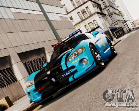 Dodge Viper SRT-10 ACR 2009 Police ELS pour GTA 4