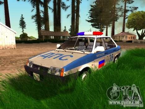 VAZ 2109 Police pour GTA San Andreas vue de dessous