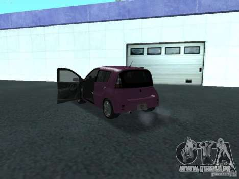 Toyota WiLL Cypha pour GTA San Andreas vue arrière