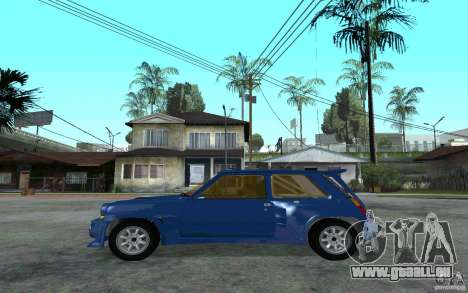 Renault 5 Maxi Turbo für GTA San Andreas linke Ansicht