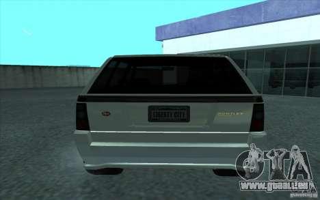 Huntley de GTA 4 pour GTA San Andreas sur la vue arrière gauche