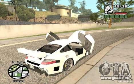 Porsche 911 Turbo S Tuned pour GTA San Andreas vue arrière