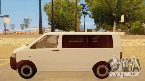 Volkswagen Transporter T5 Facelift 2011 pour GTA San Andreas laissé vue