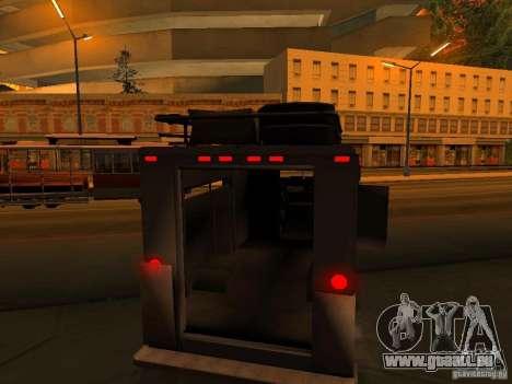 Monster Van pour GTA San Andreas roue