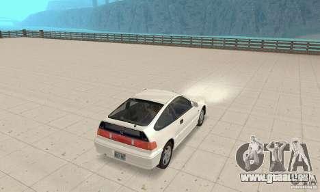 HONDA CRX II 1989-92 pour GTA San Andreas vue de droite