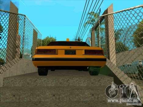 Intruder Taxi pour GTA San Andreas sur la vue arrière gauche