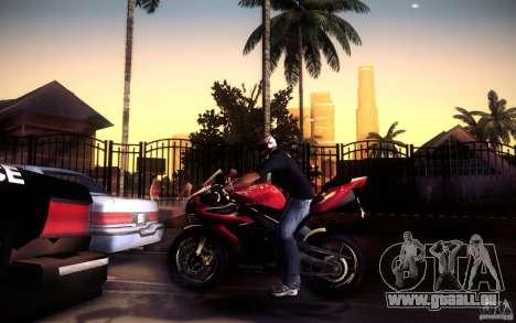 Yamaha YZF R1 pour GTA San Andreas vue de dessous
