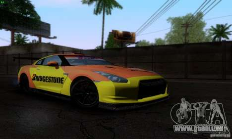Nissan GTR R35 Tuneable pour GTA San Andreas roue