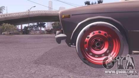 VAZ 2106 Tuning Ratte Stil für GTA San Andreas Rückansicht