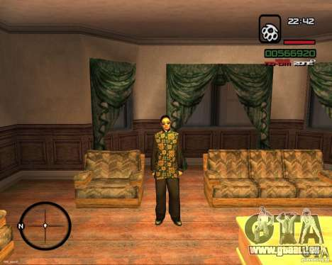 Change Skin pour GTA San Andreas deuxième écran