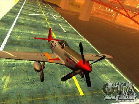 P51D Mustang Red Tails für GTA San Andreas